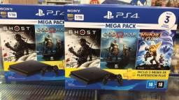 PS4 SLIM 1TB - Bundle 18 - Lançamento - Lacrado com Garantia - (VENHA NOS VISITAR !!!)