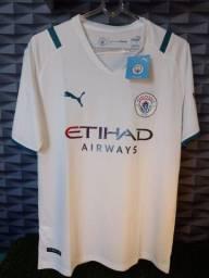 Título do anúncio: Camisa Manchester City 21/22-puma- tamanho G