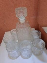 Conjunto de Garrafa e copos Decanter