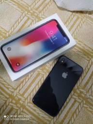 Título do anúncio: Iphone x black 256 Aceito cartão