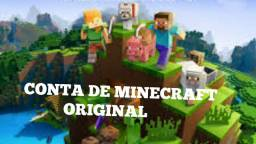 CONTA DE MINECRAFT ORIGINAL