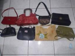 Lote com 8 bolsas usadas