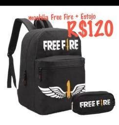 Mochila Free Fire + estojo
