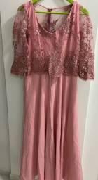 Lindo vestido de festa em renda