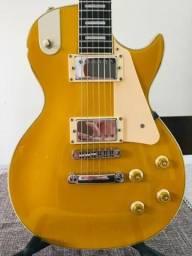 Guitarra modelo Les Paul, cor Gibson 57 seminova, já regulada por luthier, cordas novas