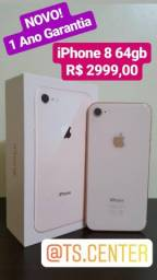 NOVO! iPhone 8 64gb com 1 Ano garantia apple