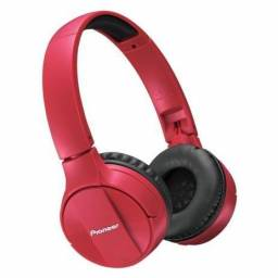 Fone de Ouvido Pioneer Bluetooth Sem Fio - com Microfone Dobrável SE-MJ553BT-R