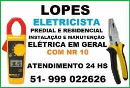 Eletricista residencial e predial NR 10