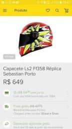 Capacete LS2 Sebastian Porto n°60 Novinho