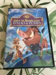 Dvd original Volta ao Mundo com Timão e Pumba