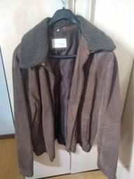 Vendo jaqueta de couro .100 por cento couro legítimo