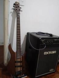 Baixo tagima century5 e amplificador meteoro cb150