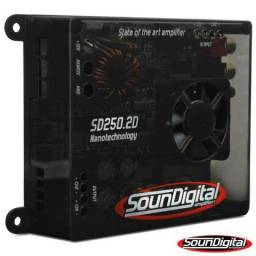 Módulo Amplificador Digital SounDigital SD250.2D - 2 Canais - 300 Watts RMS comprar usado  Belém