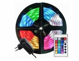 Fita de Led colorida, ideal para comércio.Completa! fita, central mais controle, fonte 12v