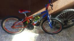 Bicicleta infantil homem aranha aro 16 usada