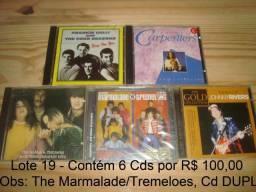 Carpenters, Mamas & Papas, Johnny Rivers, Tremeloes & Marmalades, Four Seasons, Lote 6 Cd