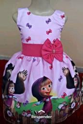 Vestido da Marsha e o urso 50 reais
