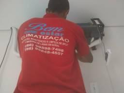 Instalação, manutenção e limpeza de ar condicionado em geral