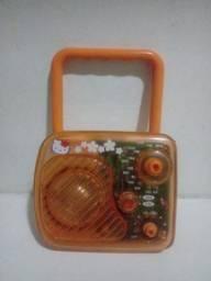 Brinquedo rádio para crianças