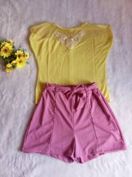 Blusa amarela tule, tamanho p, nunca usada
