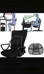 Apoio lombar corretor postural massageador