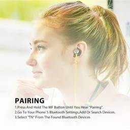 Fones de ouvido Bluedio TN Active magnéticos, sem fio esportivos bluetooth, microfone