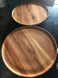 Suporte giratório madeira 50 cm