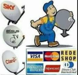 Tecnico Sky Claro Oi e Nossa TV instalação apontamento manutenção preço fixo