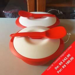 Kit Travessas ovais de 1,1L e 1,6L Tupperware