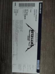 Vendo ticket do show do metálica