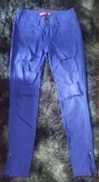 Calça jeans feminina roxa 38