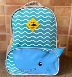 Mochila Escolar Creche Pré Escolar Infantil Tubarão Nova (aceito cartão )