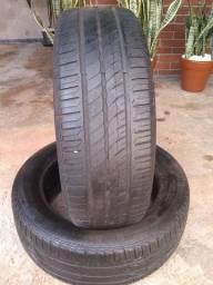 Vendo dois pneus remold roda 16  195/55