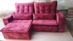 Lindo sofá retrátil tamanho 2m30