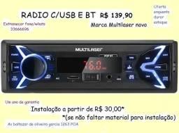 Radio Usb Multilaser com BT por 139,90