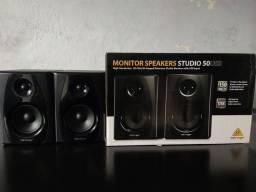 Monitor Behringer Referência Studio 50Usb (NOVO)