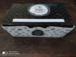 Título do anúncio: Embalagem Delivery Combo M Hambúrguer, Fritas, Salgados 80 unidades