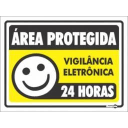 (WhatsApp) placa de sinalização acesso - vigilância eletrôni