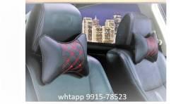 Título do anúncio: Almofada Proteção De Encosto Pescoço Banco Carro Preto 2unid