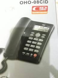 Telefone Fixo com Bina na caixa