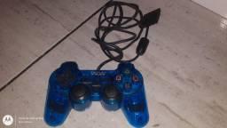 Controle PS2 Azul