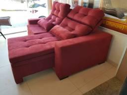 Sofá retrátil e reclinável direto da fábrica é na Tok Shik Estofados