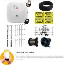 kit Cerca Elétrica Jfl 50 Metros com acesso pelo Smartphonee