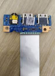 Placa filha USB / Áudio notebook Dell Inspiron 5452