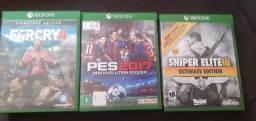 Vendo 3 jogos Xbox one