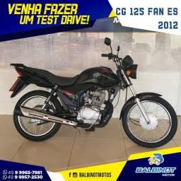 Título do anúncio: CG 125 Fan ES 2012 Preta
