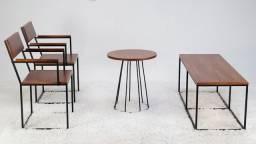 Título do anúncio: Conjunto Estilo Industrial poltronas +mesa de centro+ banco