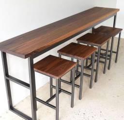Mesa de cozinha banquetas altas