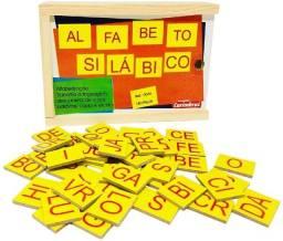 Alfabeto Silábico 180 peças Carimbras