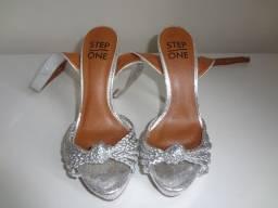 Sandália feminina Step One - cor prata